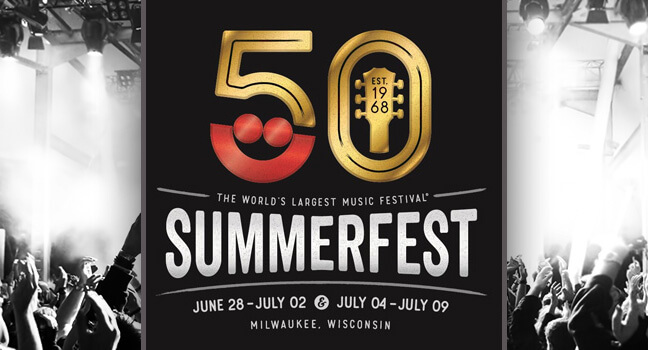 At 50th Summerfest with Elite Limo Milwaukee